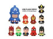 Usb Flash Drive 16gb 8gb 4gb Pen Drive The Avengers Pendrive American Captain SpiderMan Iron Man Batman Superman u disk 9SIAAWS5WM3895