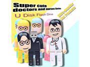 Cartoon USB Flash Drive Doctor Pendrive Gift Pen Drive Nurse Flash Drive USB Stick High Speed USB Flash Ship 9SIAAWS5WM8658