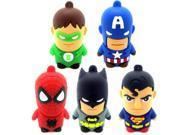 Cartoon Super Hero Bat Man Captain america USB flash pen drive 8g 32g 64g Memory Stick 4g 16g Thumb/Pendrive U Disk Gift 9SIAC5C5WS0858