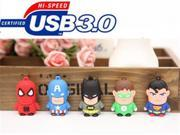 USB 3.0 League of Legends usb flash drive Captain Superman Iron Man Green Spider Batman cartoon 4GB 64GB YYS23 9SIAC5C5WS1471