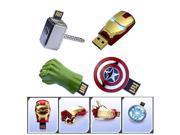 HOT100% Full capacity The Avengers Captain America Iron Man The Hulk Thor 8GB 16GB 32GB Pen drive USB Flash Drive memory stick 9SIAC5C5WS4559