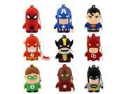 Best Gift superhero avenger/Superman/Batman/Spider Man pendrive Usb 2.0 Usb flash drive 8GB 16GB 32GB 64GB cartoon pen drive 9SIAAWS5WN0001