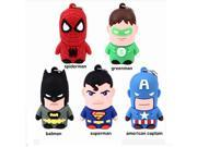 High Speed u disk Stock hero super man spiderman Usb flash drive 8g/16g/32g/64g cartoon pen drive pendrives 9SIAC5C5WS0617