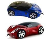 Red/Blue Mini 3D Car Shape USB Optical Wired Mouse Mice For PC/Laptop/Computer