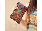 Women Retro Boho Ethnic Embroidered Wristlet Clutch Bag Handmade Purse Wallet Storage Bags (9SIAAWS6ZN5854 20180309wallet602 GENERIC) photo