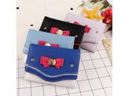 Women Short Wallet Candy Color Bow Knot Clutch Purse Fashion Girl Sailor Moon Wallet Handbag  Card Coin Bag 2018  Popular (9SIAAWS6ZN3652 20180309wallet1359 GENERIC) photo