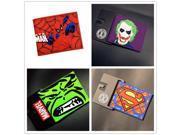 NARUTO Pokemon Silica gel Wallet Cartoon Purses 3D Pattern Printing Comics Superman Wallet Money Bag Card Holder Wallet
