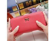 2017 women long clutch Wallets female Fashion PU Leather Bowknot coin bag phone purses Famous designer lady cards holder wallet (9SIAAWS6ZN3827 20180309wallet1593 GENERIC) photo