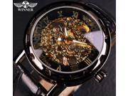 Winner Black Gold Male Clock Men Relogios Skeleton Mens Watches Top Brand Luxury Montre Leather Wristwatch Men Mechanical Watch 9SIAAWS7184283