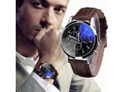 Fashion Faux Leather Mens Analog Quarts Watches Blue Ray Men Wrist Watch 2018 Mens Watches Top Brand Luxury Casual Watch Clock 9SIAAWS7186095