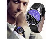 2018 Luxury Fashion Leather Mens Blue Ray Glass Quartz Analog Watches Wrist Watch Sport Watches Men Reloj Army Hombre 9SIAAWS7182176