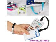 Fashion Bracelet USB Cable Charger Data Sync Cord Wristband for Samsung HTC LG Sony 5PU6 7CAN