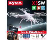 High-Quality SYMA X5SW FPV RC Quadcopter Drone with WIFI Camera HD 2.4G 6-Axis Drones RC Helicopter with 5 Battery +5in1 Cable 9SIAC5C5CD0535