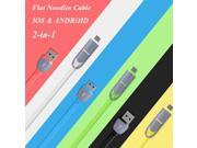 High Quality 1m 2 in 1 Micro USB Cable & 8 Pin USB Data Sync Charger Cable for iPhone 6 Plus 5s 5 for SAMSUNG Galaxy S5 Android 9SIAC5C5CD0779