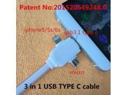 3 in 1 USB 3.0 TYPE C usb cable Appliable to \xd1\x80\xd1\x8e\xd0\xba\xd0\xb7\xd0\xb0\xd0\xba dual headphone adapter k-line usb