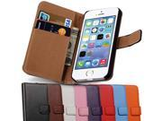 Wallet Leather Flip Case For iPhone 5 / 5S / SE Luxury Cover For iPhone5 i Phone Apple Brand Black Pink Coque Bag Housing