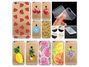 Novelty Fundas Phone Case Cover For Apple iPhone 6 6S Fruit Pineapple Lemon Watermelon Silicon Transparent Coque Capa Celular 9SIAC8552G8491