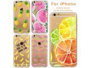 Case For Apple iPhone 4 4S 5 5S SE 5C 6 6s Plus 6Plus Soft Silicon TPU Transparent Fruit Pineapple Lemon Banana Thin Phone Cases 9SIAAWS5C59229