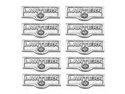 10 Switch Plate Tags LANTERN Name Signs Labels Chrome Brass Renovators Supply