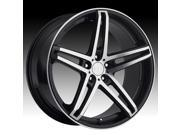 TIS 536MB 18x8 5x110 +42mm Black/Machined Wheel Rim