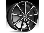 Pacer 789MB Evolve 18x7.5 5x114.3/5x120 +42mm Black/Machined Wheel Rim