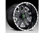 Monster Energy 539BM Gloss Black Milled 20x10 6x135 25mm 539BM 2106325