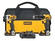 DCK280C2 20V MAX Cordless Lithium-Ion 1/2 in. Compact Drill Driver and Impact Driver Combo Kit