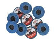 ABN 2� 80 Grit Zirconia Alumina Flat Flap Disc Roloc Lock Grinding Wheels 10 PK