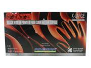 Adenna NGL228 NIGHT ANGEL Black Nitrile Exam Gloves, X-Large, 1 Case (10 Boxes) 9SIAAYJ6A85993