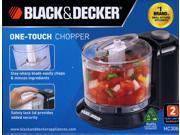 Black & Decker HC306B 1-1/2-Cup One-Touch Electric Chopper