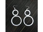 Image of Artisana Large Silverplated Double Circle Earrings
