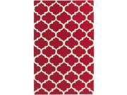 Image of Artistic Weavers AWAH2030-35 Pollack Stella Rectangle Hand Tufted Area Rug, Red & White - 3 x 5 ft.