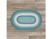 Image of Colonial Mills BK57R072X072 6 x 6 ft. Blokburst Round Braided Rug, Teal