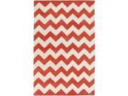 Image of Artistic Weavers AWAT2038-69 Transit Penelope Rectangle Hand Tufted Area Rug, Orange - 6 x 9 ft.