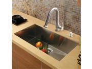 Vigo Inductries VG15293 VIGO All in One 30 inch Undermount Stainless Steel Kitchen Sink and Faucet Set