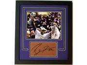 Ray Lewis Autographed Football Cut CUSTOM FRAMED with Baltimore Ravens Super Bowl 47 XLVII 8x10 Photo 9SIA00Y19B0187