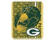 Northwest 1NFL 01903 0017 RET Double Play Packers NFL Jacquard Throw