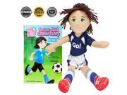 Image of BrybellyHoldings TDBT-01 Soccer Girl Cassie Read & Play Doll And Book Set