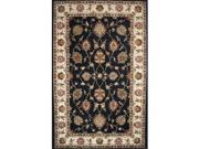 Image of Dynamic Rugs CH10141412190 Charisma 9 ft. 6 in. x 13 ft. 6 in. 1412-190 Rug - Black/Ivory
