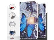 Zizo DPWTPH-IPH7-VBBF Vibrant Butterflies Design Wallet Flap Pouch with TPU inside Cover - Vibrant 9SIV06W67C1115