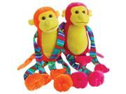 US Toy SB623X12 Neon Striped Leg Monkeys - 12 Bags 9SIA00Y5WV8511