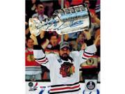 Schwartz Sports Memorabilia SHA08P440 Patrick Sharp Signed Chicago Blackhawks Holding 2013 Stanley Cup Trophy 9SIV06W6A40068