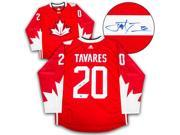 AJ Sports World TAVJ99600A John Tavares Team Canada Autographed World Cup of Hockey Adidas Hockey Jersey 9SIV06W6A78475