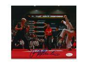 Sports Integrity 19791 8 x 10 in. Ralph Macchio Signed Karate Kid vs Johnny Lawrence Photo 9SIV06W6FN3617