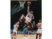 Schwartz Sports Memorabilia ROD16P222 16 x 20 in. Dennis Rodman Signed Chicago Bulls One Handed Rebound Action Photo