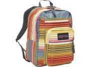 JanSport Big Student School Backpack - Multi Sunset Stripe - Silver