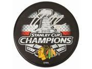 Schwartz Sports Memorabilia CRAPUC406 Corey Crawford Signed Chicago Blackhawks 2015 Stanley Cup Champions Logo Hockey Puck 9SIA00Y6G88006