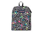 JanSport Superbreak School Backpack - Bebop - Black & White