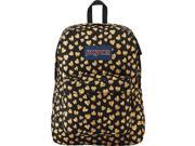JanSport Superbreak Backpack - Glitter Hearts - Silver