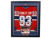 Autograph Authentic TEAM10557A 35 x 43 in. 1993 Montreal Canadiens 21 Player Team Signed Stanley Cup Jersey Frame 9SIA00Y6J01449